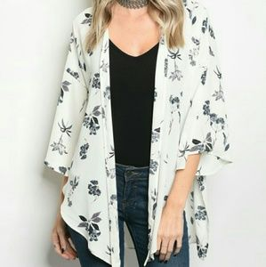 Other - LAST ONE! Ivory Floral Kimono